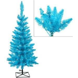 Pre Lit Sky Blue Ashley Spruce Christmas Tree   Blue and Clear