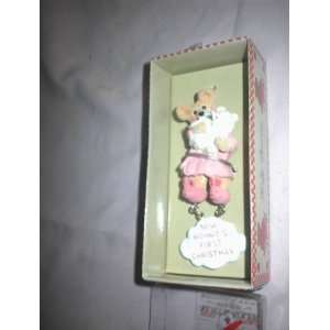Kurt S. Adler Holly Bearies Christmas Ornament New Mommy