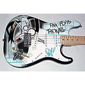 Roger Waters Autographed Signed Pink Floyd Airbrush Guitar