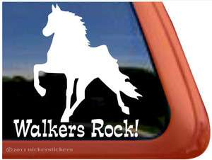 High Quality Tennessee Walking Horse Trailer Window Sticker Decal