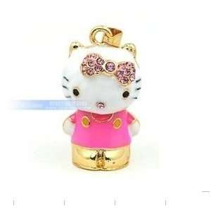 Hello Kitty 3D Golden Crystal Style Design USB Flash Drive with