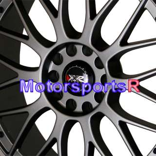Flat Gun Metal Gray Staggered Wheels Rims 5x114.3 5x4.5 Mesh